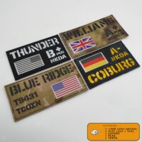 Custom ID Panel 3x5 and 3x6 Full Color Flag Your Texts Army Military Morale Tactical Panel Velcro Brand Jumbo Patch
