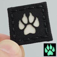 glow dark k9 dog paw handler GITD K-9 velcro patch