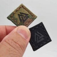 tiny 1x1 valknut cat eye viking norse heathen velcro patch