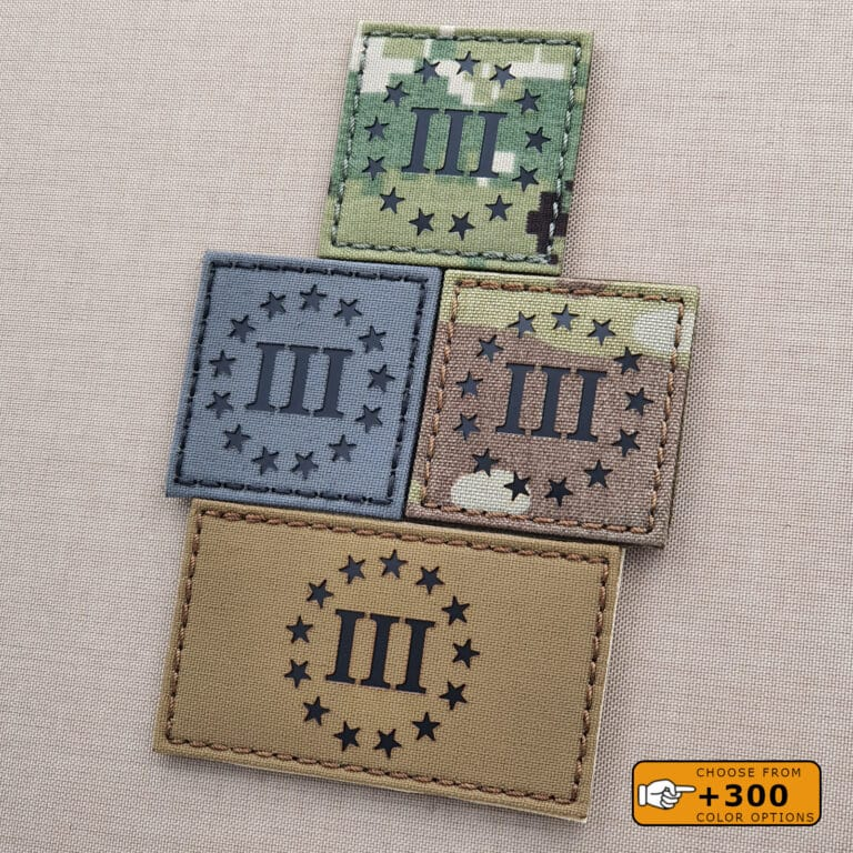 Three Percenter Oathkeeper DTOM Laser Cut Tactical Morale Velcro© Brand Patch