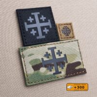 Jerusalem Order Holy Sepulchre Cross Morale Tactical Army Military Laser Cut Velcro© Brand Patch