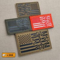 USA American Forward Reversed Flag Star of Life EMS EMT Medic Paramedic SAR Tactical Laser Cut Velcro© Brand Patch