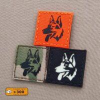 K9 Dog Handler War k-9 LEO Law Enforcement Laser Cut Badge Velcro© Brand Panel Patch