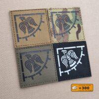Raven Banner Viking Norse Icelandic Heathen IFF Tactical Morale Velcro© Brand Patch
