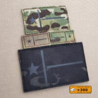 Texas Flag Lone Star Military Morale Laser Tactical Cut Velcro© Brand Patch