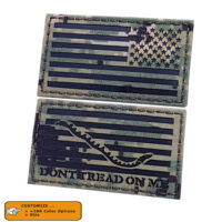 """Bundle Set of 2 Patches Size 2""""-1/8x4"""" First Navy Jack America Reversed Flag IR NWU Type III DTOM AOR2 Morale VELCRO(C) brand"""