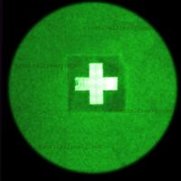"""A 2""""x2"""" patch with Red Cross in night vision image"""