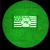 Image night vision IR USA Flag Dog Handler Paw