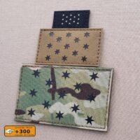 General Washington's Headquarters Flag Standard 13-star HQ American Revolutionary War USA Revolution Morale Tactical Laser Cut Velcro© Brand Patch