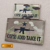 Come and Take It Modern AR-15 Texas Revolution 2A Gun Army Military Morale Tactical Laser Cut Velcro© Patch