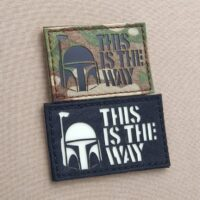 Star Wars This is the Way The Mandalorian Boba Fett Laser Cut Tactical Velcro© Brand Patch