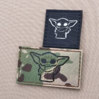 Baby Yoda The Mandalorian Star Wars Laser Cut Velcro© Brand Patch