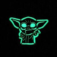 Glow in the Dark Baby Yoda The Mandalorian Star Wars Laser Cut Velcro© Brand Patch