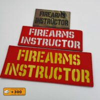 Firearms Instructor Army Military Tactical Laser Cut Velcro© Brand Patch