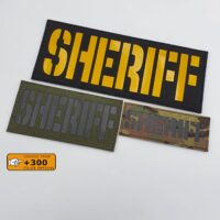 Sheriff Chest Rig Plate Carrier Tactical Morale Police SWAT Laser Cut Velcro© Brand Patch