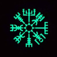 Glow In The Dark Vegvisir Viking Norse Heathen GITD Tactical Morale Velcro© Brand Patch