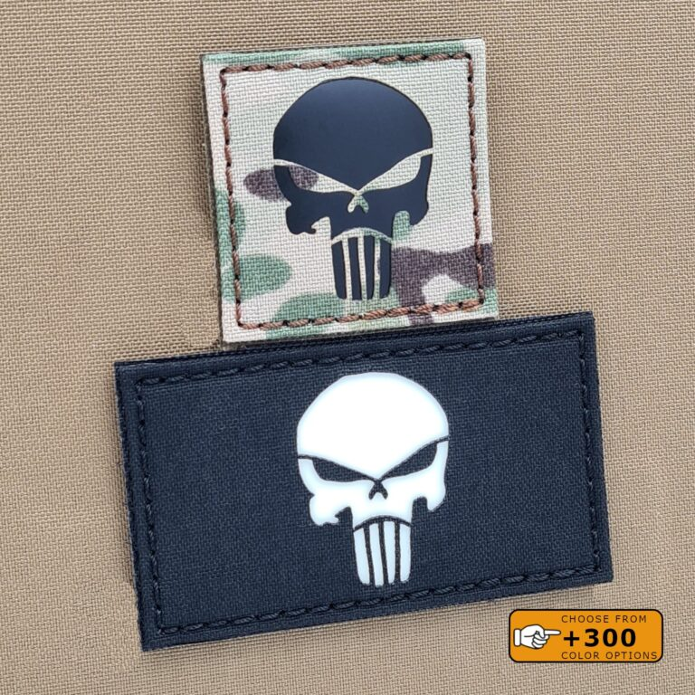 Punisher Skull Tactical Morale Laser Cut Velcro© Brand Patch