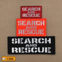SAR Search and Rescue Loadout Hi Viz Plate Carrier Tactical VELCRO(C) Brand Patch