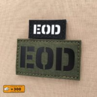 EOD Explosive Ordnance Disposal Wolf Gray Grey Bomb Squad 2X3.5 Tactical VELCRO(C) brand Patch