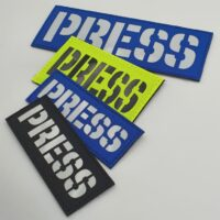 Press Reflective Safety Media Plate Carrier Tactical Laser Cut Velcro© Brand Patch Panel