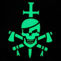 Glow Dark GITD SEAL Silver Team Six ST6 US Navy SEALs DEVGRU Special Warfare Velcro Patch