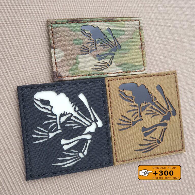 Frog US Navy SEALs Bones Skeleton Frogman DEVGRU Special Warfare SEAL Team Velcro Patch