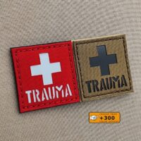 Trauma First Aid Kit IFAK MED EMS SAR USAR Morale Tactical Laser Cut Velcro© Brand Patch