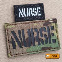 Nurse RN Laser Cut EMS Medical Velcro Brand Patch