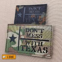 Flag Lone Star Don't Mess With Texas Morale Tactical Laser Cut Velcro© Brand Patch