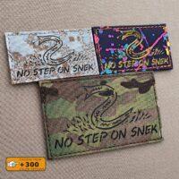 No Step On Snek Flag DTOM Laser Cut Tactical Morale Velcro© Brand Patch
