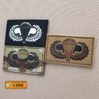Basic Parachutist Badge Jump Wings Airbone Army Military Tactical Morale Velcro© Brand Patch
