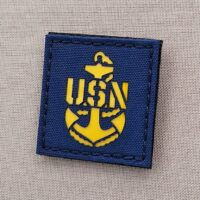 Us Navy Chief Petty Officer CPO Anchor Military Laser Cut Velcro© Brand Patch