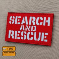 SAR Search and Rescue Loadout Hi Viz Plate Carrier Tactical Laser Cut Velcro© Brand Panel Patch