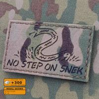 Multicam IR No Step On Snek Flag Infrared DTOM Morale Laser Cut Tactical Velcro© Brand Patch