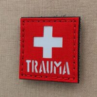 Hi Viz Reflective Trauma First Aid Kit IFAK MED EMS SAR USAR Morale Tactical Laser Cut Velcro© Brand Patch