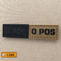 O POS Blood Type 1×2 Laser Cut Tactical Morale Velcro© Brand Patch