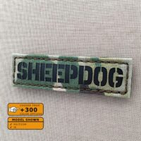 Sheepdog Multicam Infrared Name Tape Tab Laser Cut IFF Morale Velcro© Brand Patch
