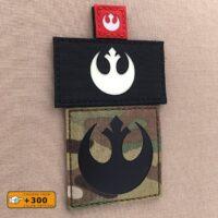 Logo Rebel Alliance Star Wars Tactical Laser Cut Morale Velcro© Brand Patch