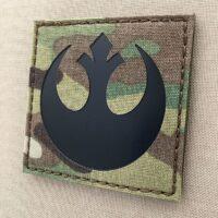 Multicam IR Logo Rebel Alliance Star Wars Tactical Laser Cut Morale Velcro© Brand Patch