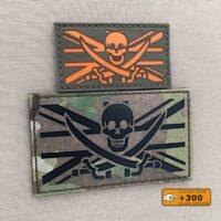 Calico Jolly Roger UK Union Jack FlagJack Pirate British Jack Rackham Tactical Army Morale Laser Cut Velcro© Brand Patch