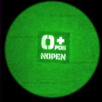 """A 2""""x2"""" patch with OPOS O+ NOPEN is night vision image"""