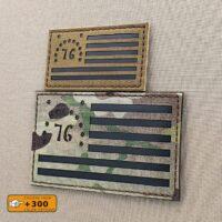 Battle of Bennington Flag Morale Laser Cut Tactical Velcro© Brand Patch