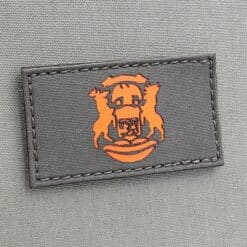 Ranger Green Michigan State Flag MI Great Lakes Morale Tactical Laser Cut Velcro© Brand Patch