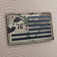 Battle of Bennington Flag Multicam Morale Laser Cut Tactical Velcro© Brand Patch