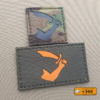 Two patches with the Thomas Tew pirate flag